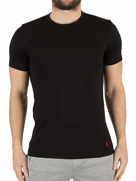 Polo Ralph Lauren Polo Black/Polo Black 2 Pack Stretch Cotton Logo T-Shirt