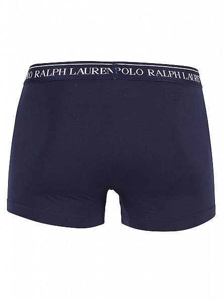 Polo Ralph Lauren Red/Navy/Logan Sapphire 3 Pack Cotton Stretch Logo Trunks