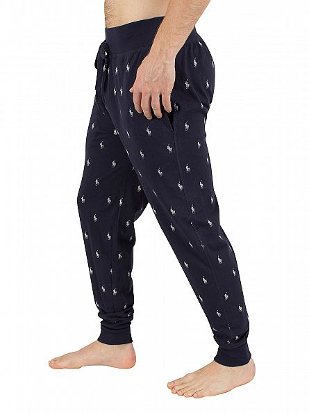 Polo Ralph Lauren Cruise Navy/Nevis Logo Waistband All Over Logo Pyjama Bottoms