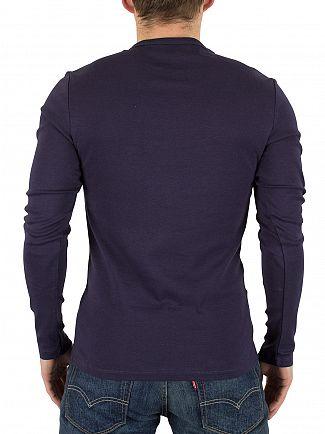 G-Star Navy Longsleeved Slim Fit Logo T-Shirt