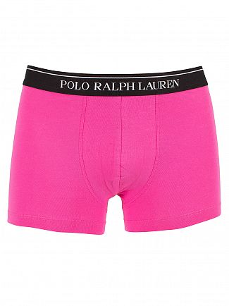 Polo Ralph Lauren /NavyLogan Sapphire/Pink 3 Pack Cotton Stretch Logo Trunks