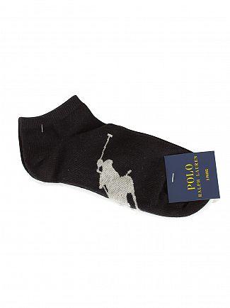 Polo Ralph Lauren Black/White/Grey 3 Pack Logo Ankle Socks