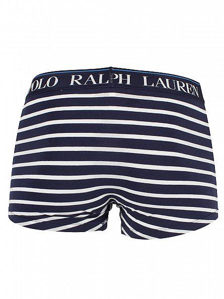 Polo Ralph Lauren Navy/White Classic Stretch Cotton Striped Logo Trunks