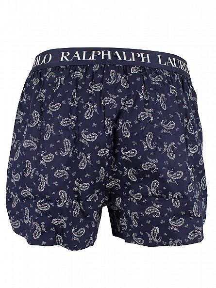 Polo Ralph Lauren Cruise Navy Slim Fit Stretch Cotton Paisley Woven Shorts