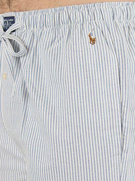 Polo Ralph Lauren Oxford Stripes Blue/White Striped Logo Sleep Shorts