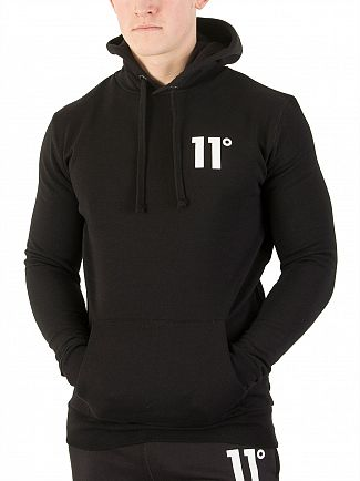 11 Degrees Black Core Logo Hoodie