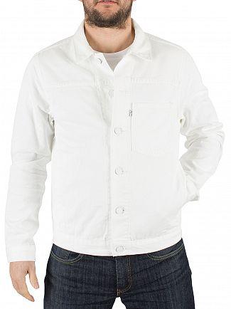 Levi's Bright White Line 8 ND Twill Trucker Jacket