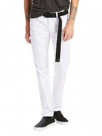 Levi's Bright White Line 8 Straight Slim Fit Jeans