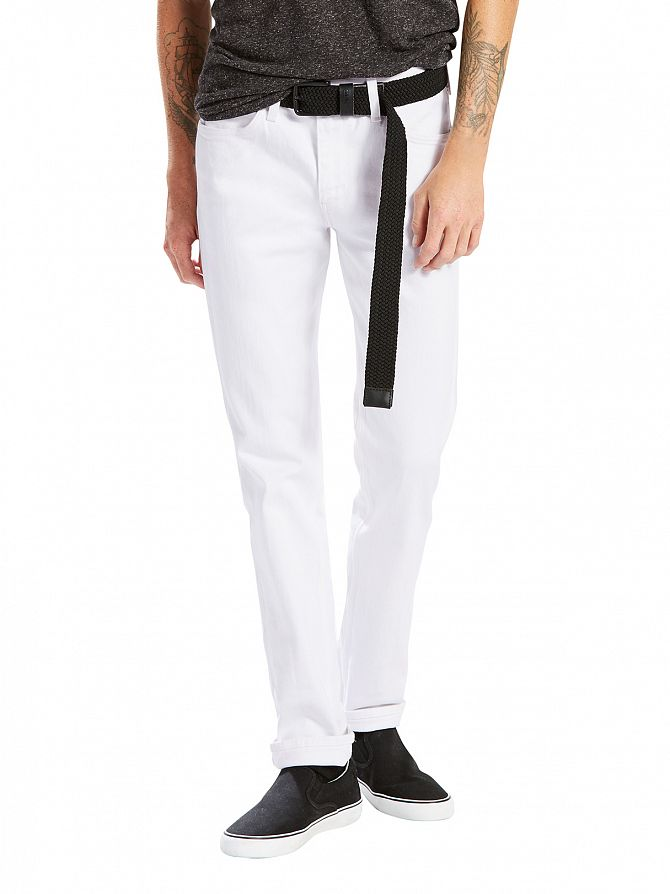 Levi's Bright White Line 8 Straight Slim Fit Jeans
