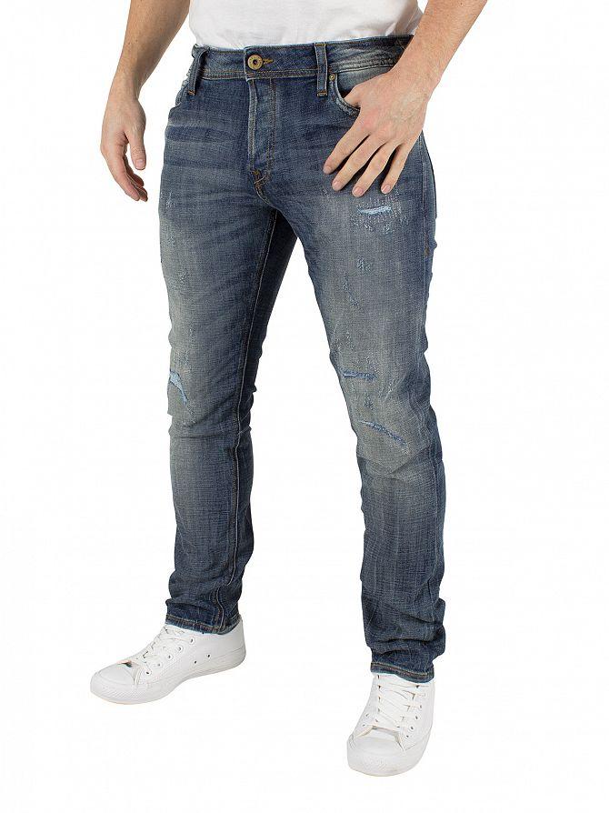 jack jones blue denim glenn original 988 slim fit jeans. Black Bedroom Furniture Sets. Home Design Ideas