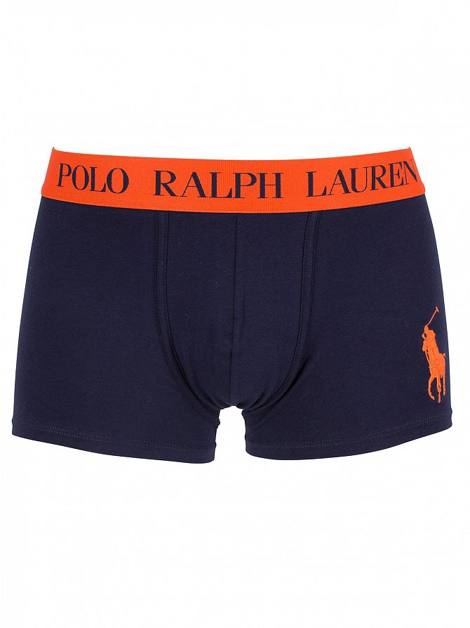 Polo Ralph Lauren Cruise Navy/Dusk Orange Classic Stretch Cotton Logo Trunks