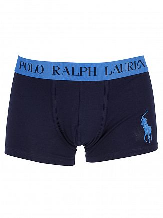 Polo Ralph Lauren Cruise Navy/Jewel Blue Classic Stretch Cotton Logo Trunks