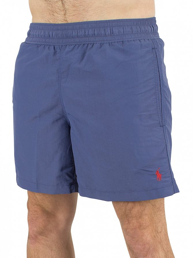 Polo Ralph Lauren River Blue Hawaiian Logo Swim Shorts