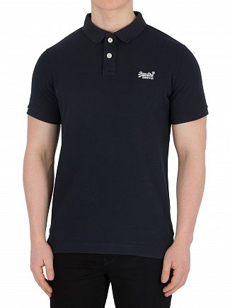 Superdry Eclipse Navy Classic Pique Logo Polo Shirt
