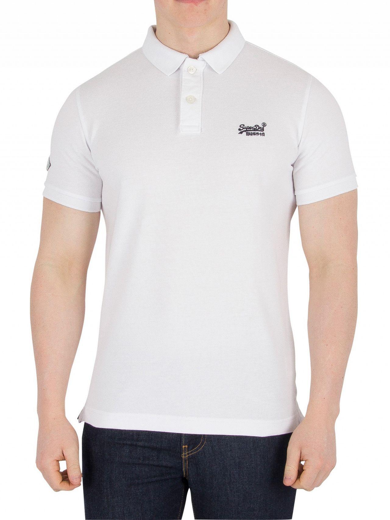 ca9e716be Superdry Optic Classic Pique Logo Polo Shirt