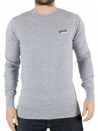 Superdry Egret Orange Label Logo Knit