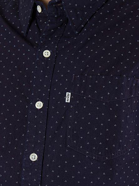 Levi's Navy Shortsleeved Sunset Synthesizer Shirt