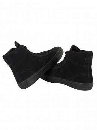 Converse Black/Black/Black Star Player HI Suede Trainers