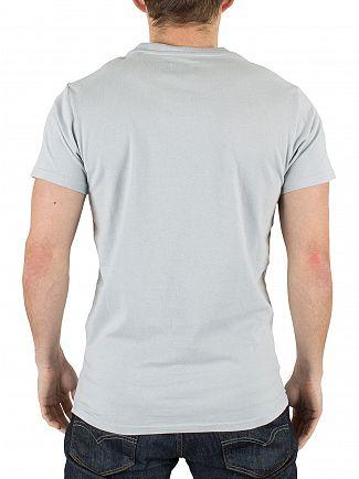 Edwin Ciel Clair Blue Pocket T-Shirt