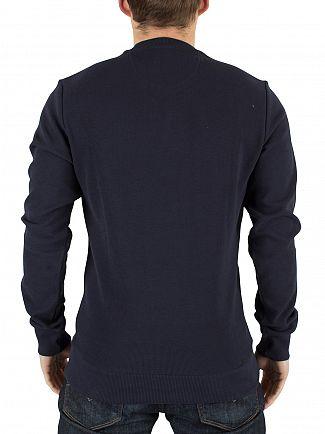 Farah Vintage True Navy Ashcroft Logo Waffle Sweatshirt