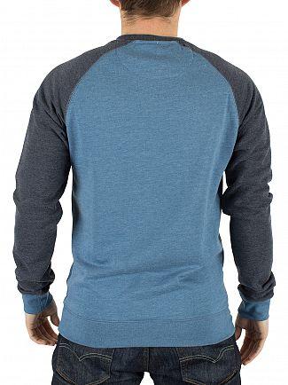 Farah Vintage Stellar Marl Tanton Raglan Logo Sweatshirt