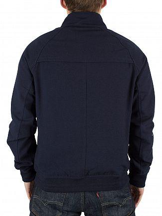 Farah Vintage True Navy Woodgate ZIPCF Logo Bomber Jacket