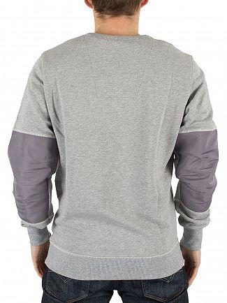 G-Star Grey Heather Rackam Marled Logo Sweatshirt