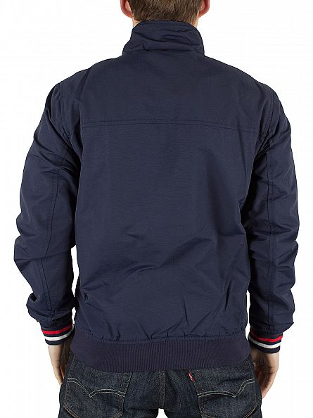 Tommy Hilfiger Denim Black Iris Basic Casual 22 Logo Bomber Jacket