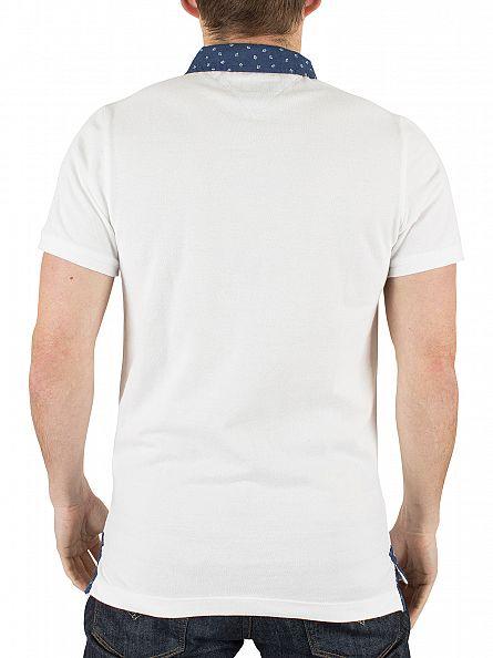 Tommy Hilfiger Denim Classic White Detail Button Down Logo Polo Shirt