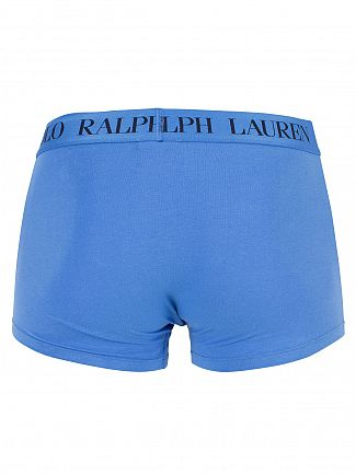 Polo Ralph Lauren Jewel Blue Classic Stretch Cotton Logo Trunks