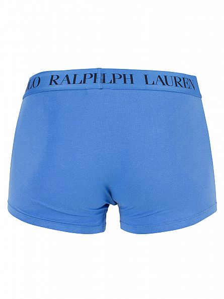 Polo Ralph Lauren Jewel Blue Classic Stretch Cotton Logo Trunks