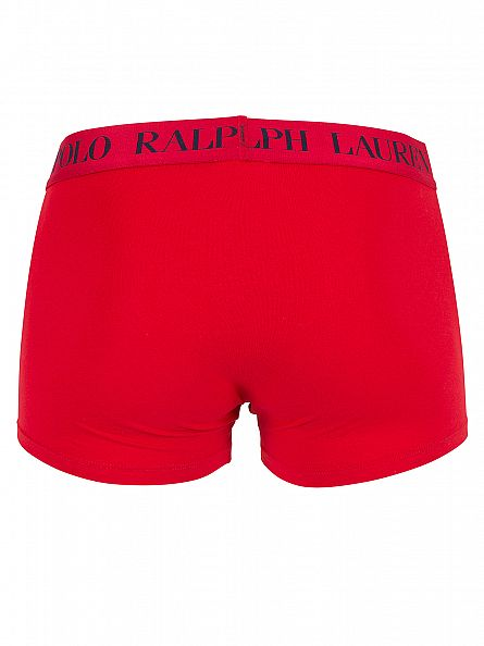Polo Ralph Lauren Red/Navy Classic Stretch Cotton Logo Trunks