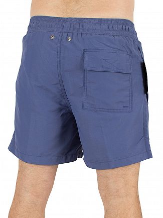 Polo Ralph Lauren River Blue Hawaiian Logo Swim Shorts