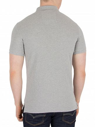 Superdry Grey Marl Classic Pique Logo Polo Shirt
