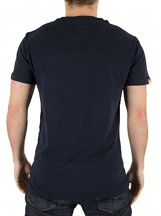Superdry Eclipse Navy Orange Label Vintage Logo T-Shirt