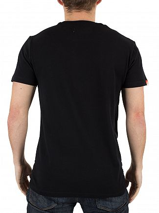 Superdry Black Orange Label Vintage Logo T-Shirt