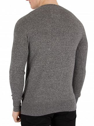 Superdry Steel Twist Orange Label V-Neck Knit