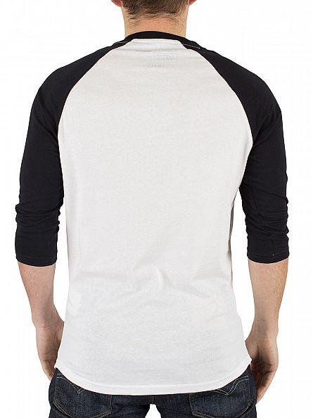 Vans White/Black Classic Raglan Logo T-Shirt
