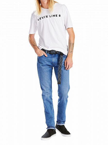 Levi's Mid Denim Line 8 Taper OT Blue Scrape Jeans