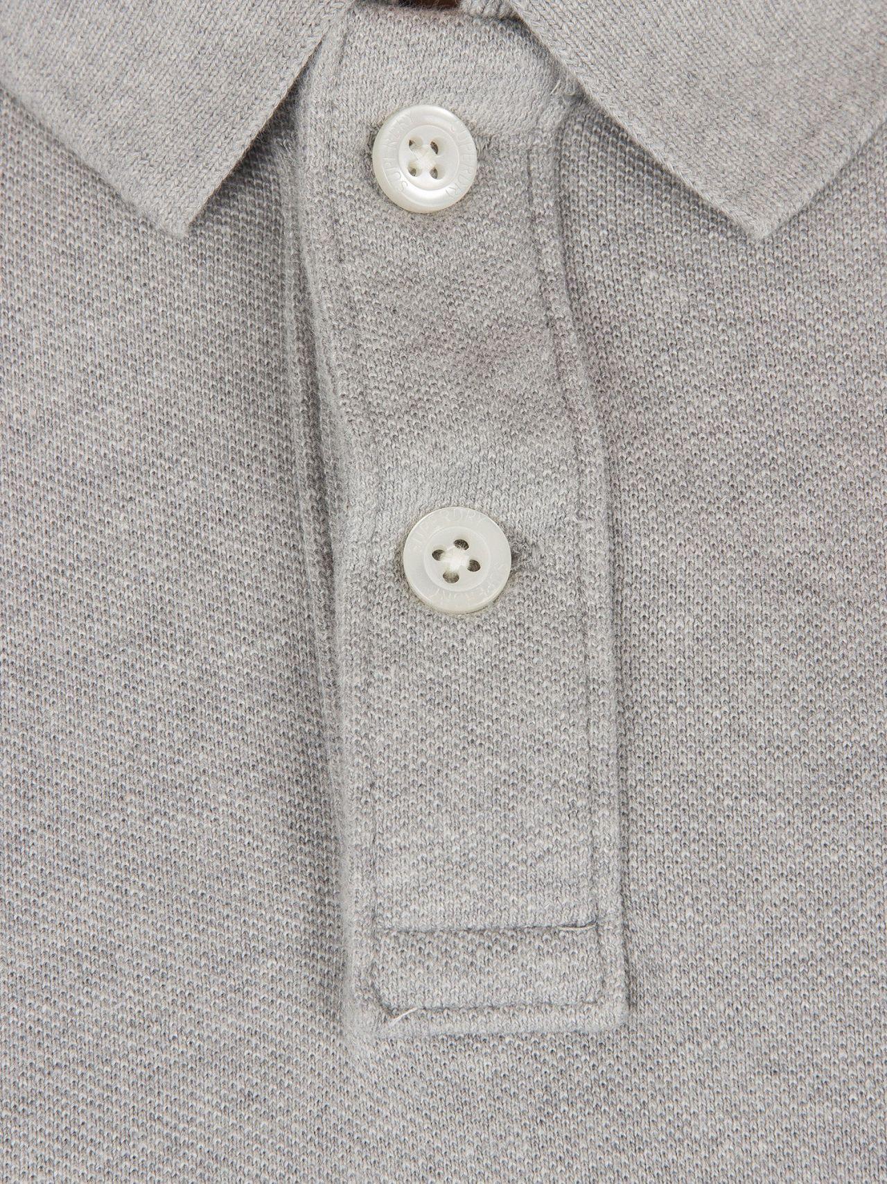 07c820d7a Superdry Grey Marl Classic Pique Logo Polo Shirt