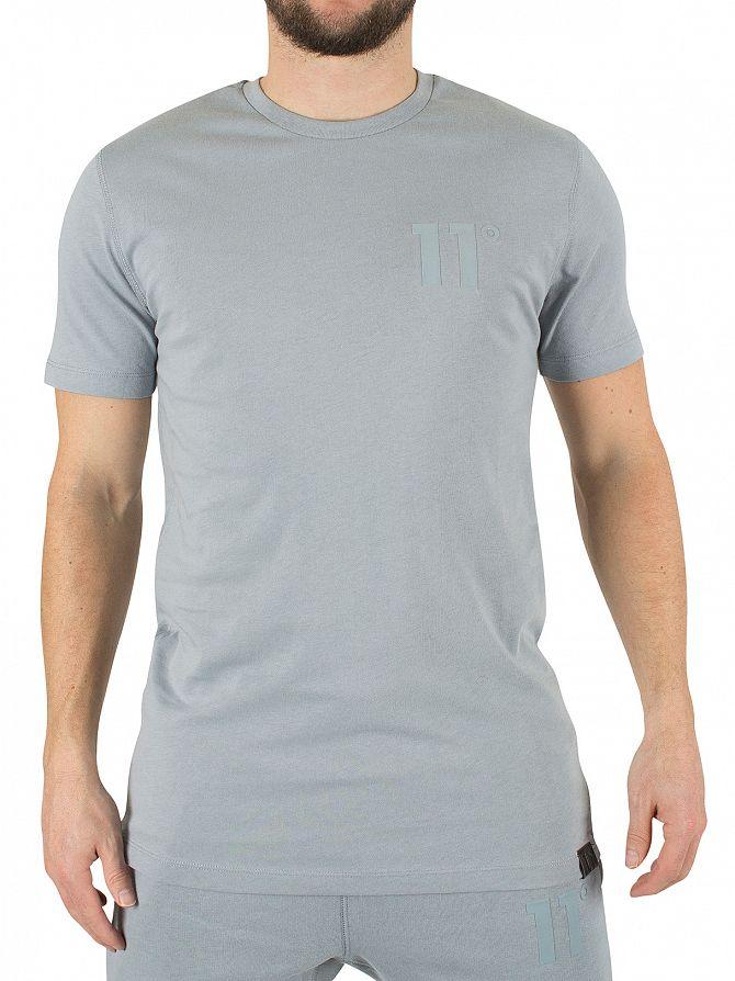 11 Degrees Slate Core Curved Hem Logo T-Shirt