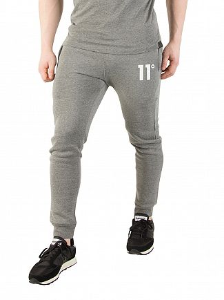 11 Degrees Charcoal Core Logo Marled Joggers