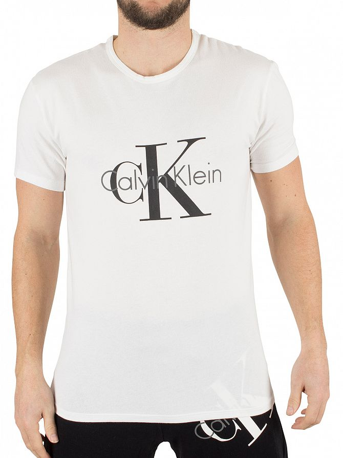 calvin klein white ck graphic t shirt stand out. Black Bedroom Furniture Sets. Home Design Ideas