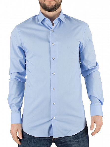 Calvin Klein Light Blue Slim Fit Bari Shirt
