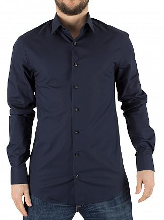 Calvin Klein Midnight Blue Slim Fit Bari Shirt
