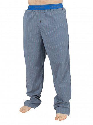 Calvin Klein Blue Striped Logo Waistband Pyjama Bottoms