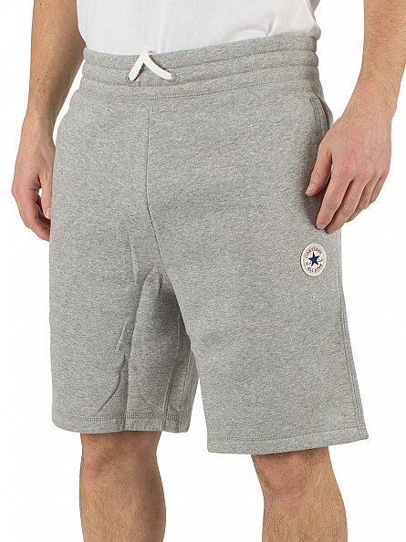 Converse Vintage Grey Heather Core Logo Marled Sweat Shorts