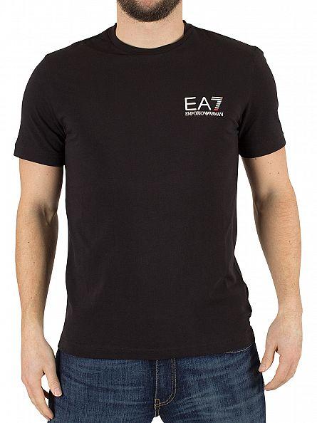 emporio armani black ea7 logo t shirt 3ypt52 pj03z 1200 24740. Black Bedroom Furniture Sets. Home Design Ideas