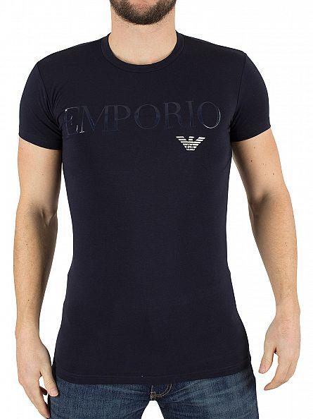 Emporio Armani Navy Graphic Logo T-Shirt