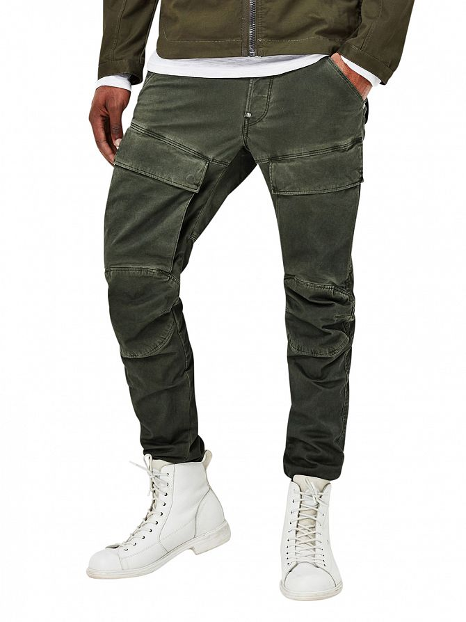 G-Star Dark Shamrock/Asfalt Slim Fit Air Defence 5620 3D Cargos